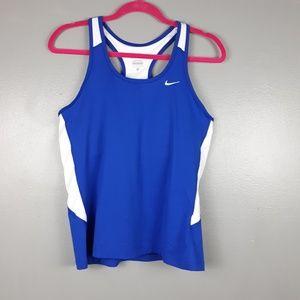 Nike Dri-Fit royal blue racerback tank Large